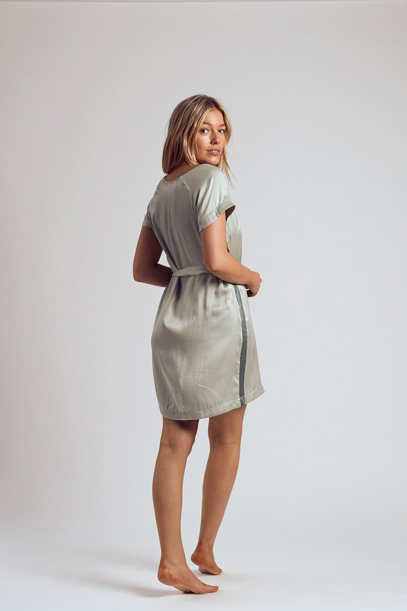 THE CHARTREUSE SILK DRESS - Staying In Au