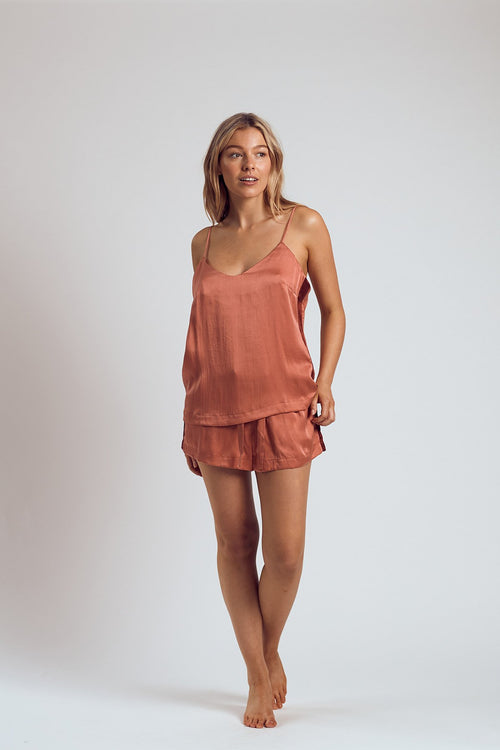 THE ROSÉ SILK CAMI - Staying In Au