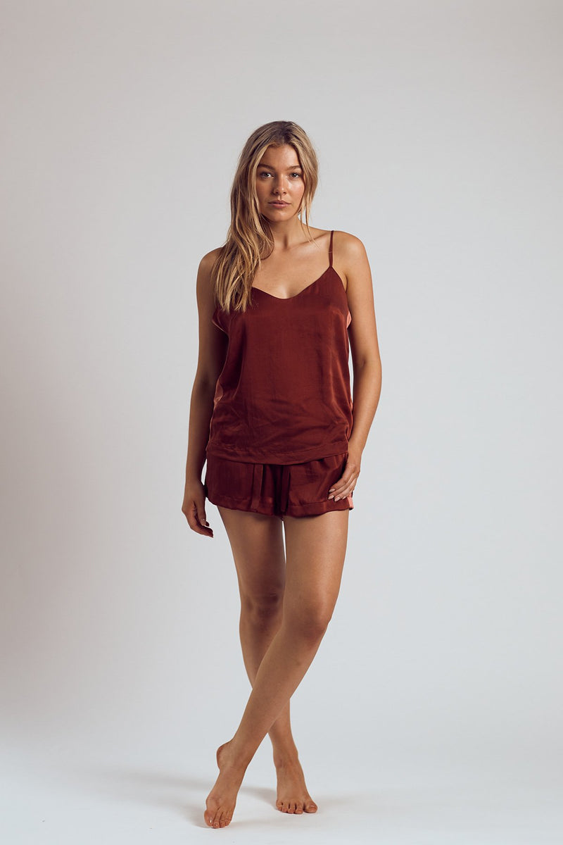 THE MERLOT SILK CAMI - Staying In Au