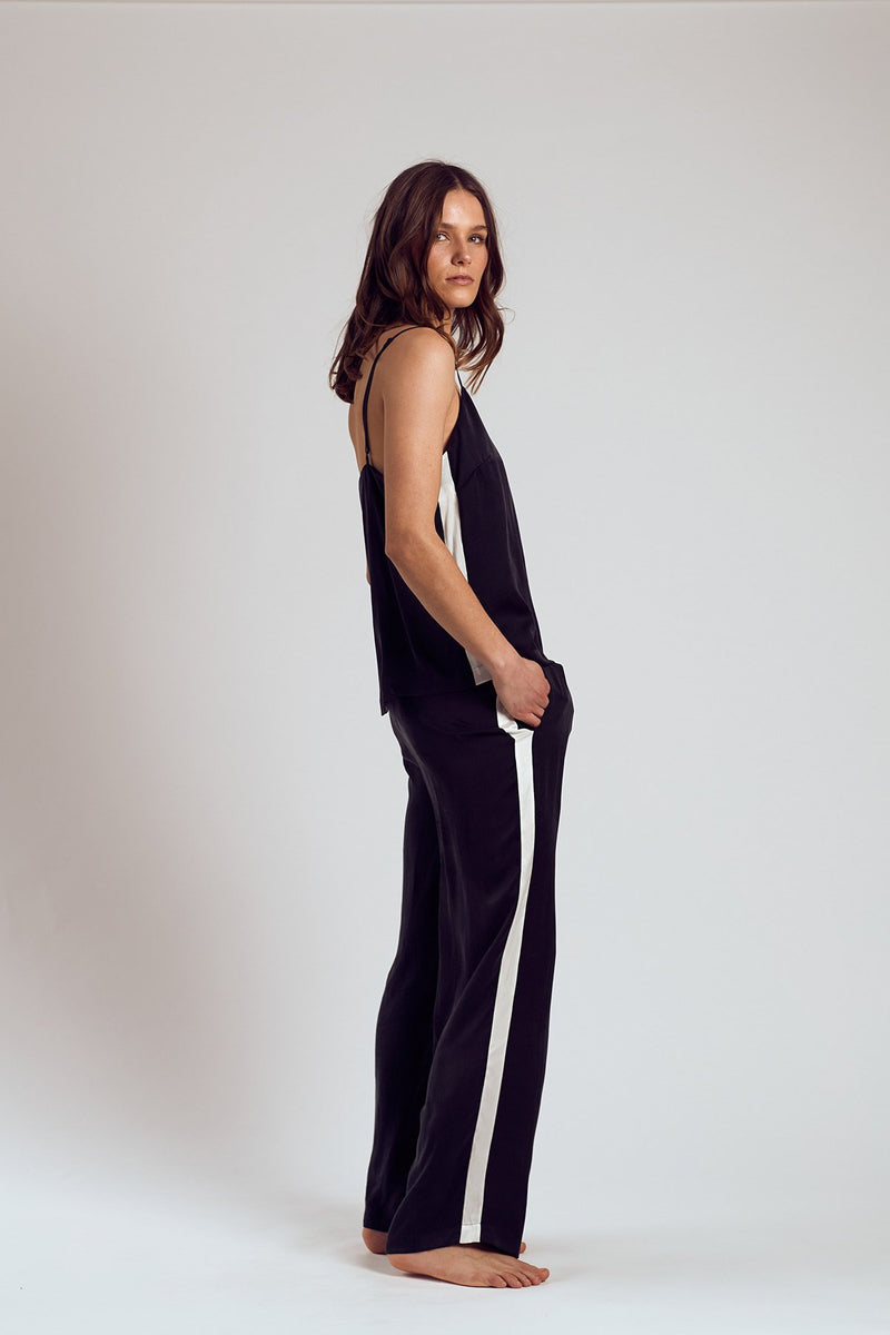 THE BLACK SAMBU SILK PANTS - Staying In Au
