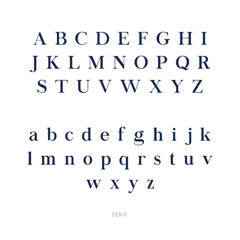 Midnight Mischief's serif font displayed to show what each letter looks like in upper case and lower case letters.