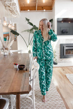 Limited Edition Luxe Personalised Pyjama Set - Long Sleeve and Long Pants Hamptons Print