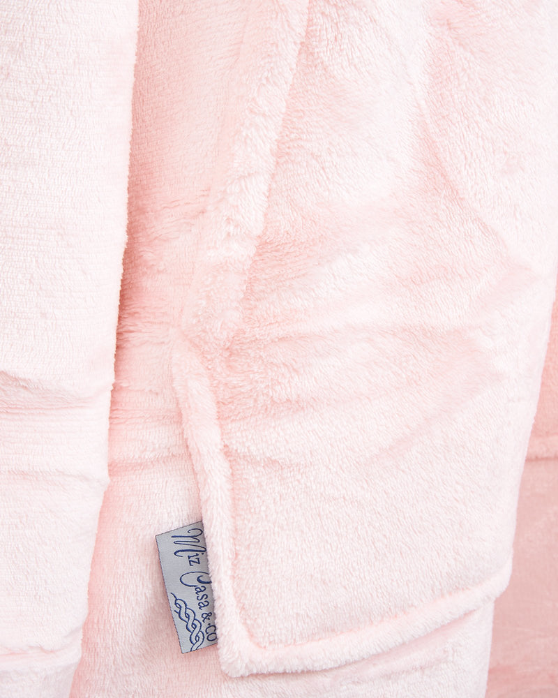 LUXURY HOODED BLANKET PINK - Staying In Au