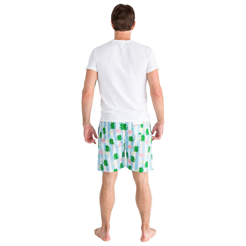 Men's Gray Malin Beach Blue Sleep Shorts