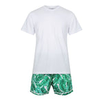 Personalised Men's Set - Luxe Personalised Shirt with Hampton's Print Shorts