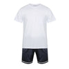 Personalised Men's Set - Luxe Personalised Shirt with Navy Satin Shorts