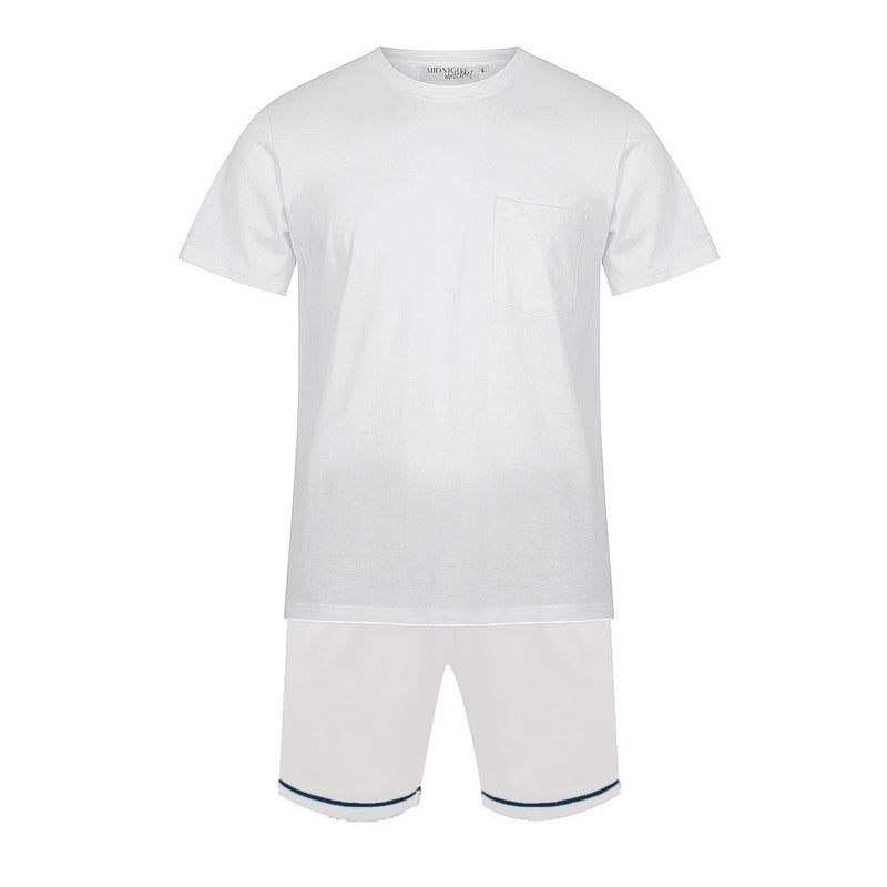 Personalised Men's Set - Luxe Personalised Shirt with White Satin Shorts