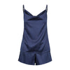 Midnight Mischief Sleepwear's navy camisole ghost mannequin photography.