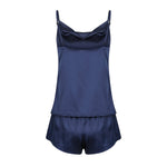 Luxe Personalised Cowl Neck Camisole Set - Navy