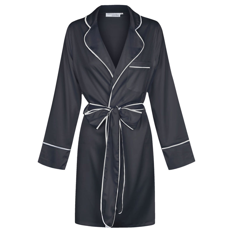 Luxe Signature Personalised Robe - Black/White