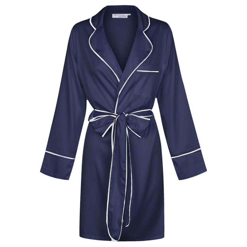 Luxe Signature Personalised Robe - Navy/White