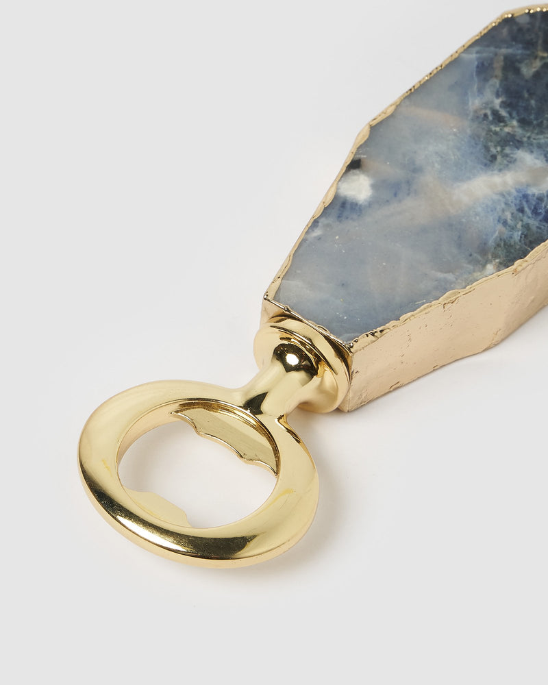Miz Casa & Co Bottle Opener Gold Blue Lapis