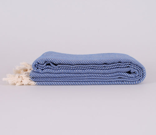 NICE BLUE TURKISH THROW - Staying In Au