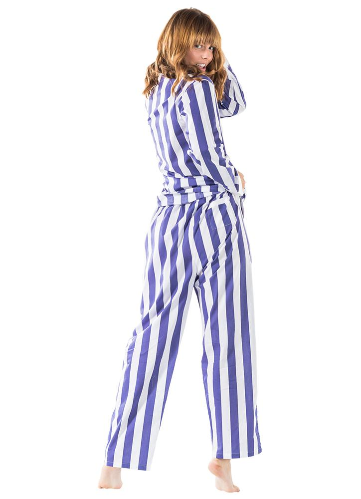 Women's Braddock Navy Shirt + PJ Pant Set