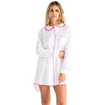 Women's White Cambric Night Shirt