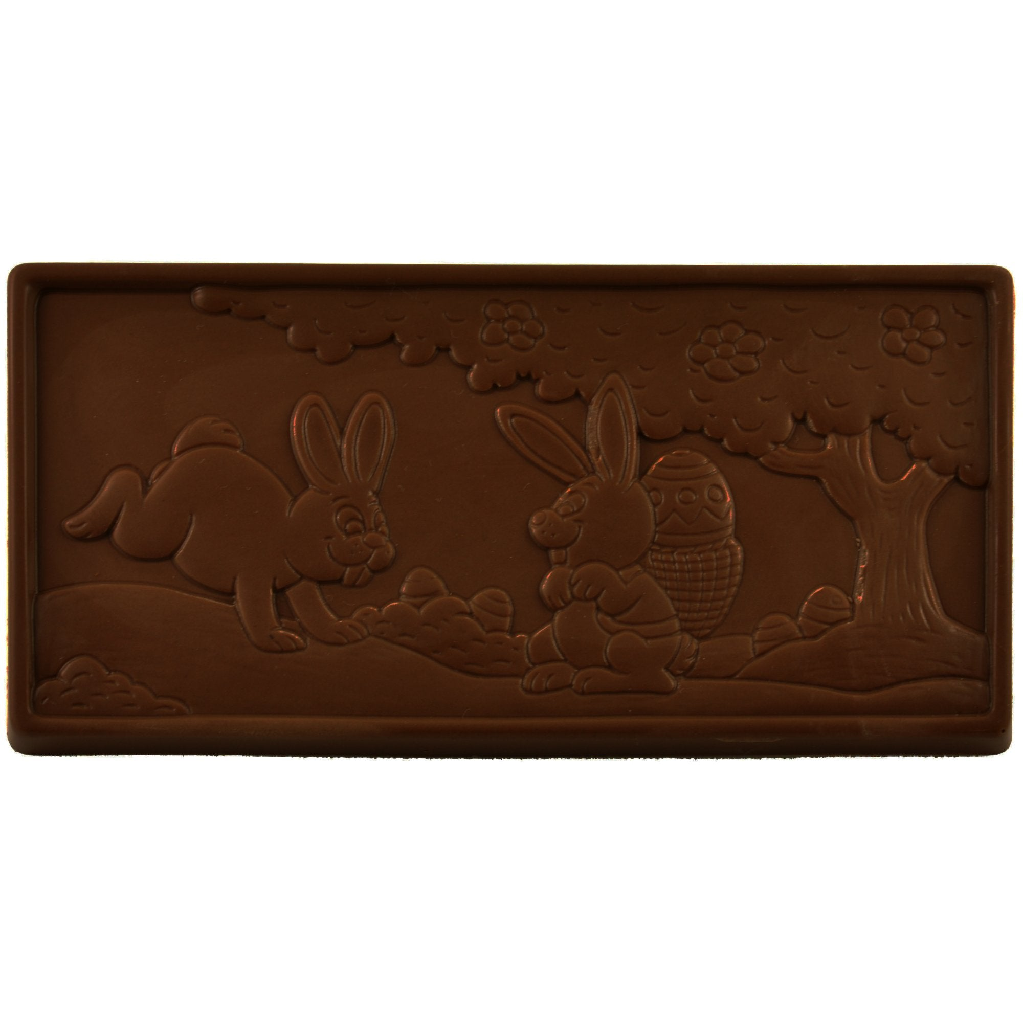 Dark Chocolate Easter Scene Bar