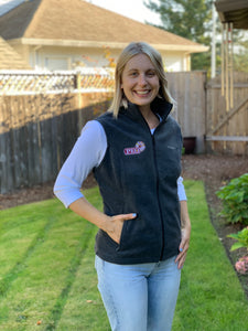Premium Fleece Vest- Dark Grey Sizes Small - 3X