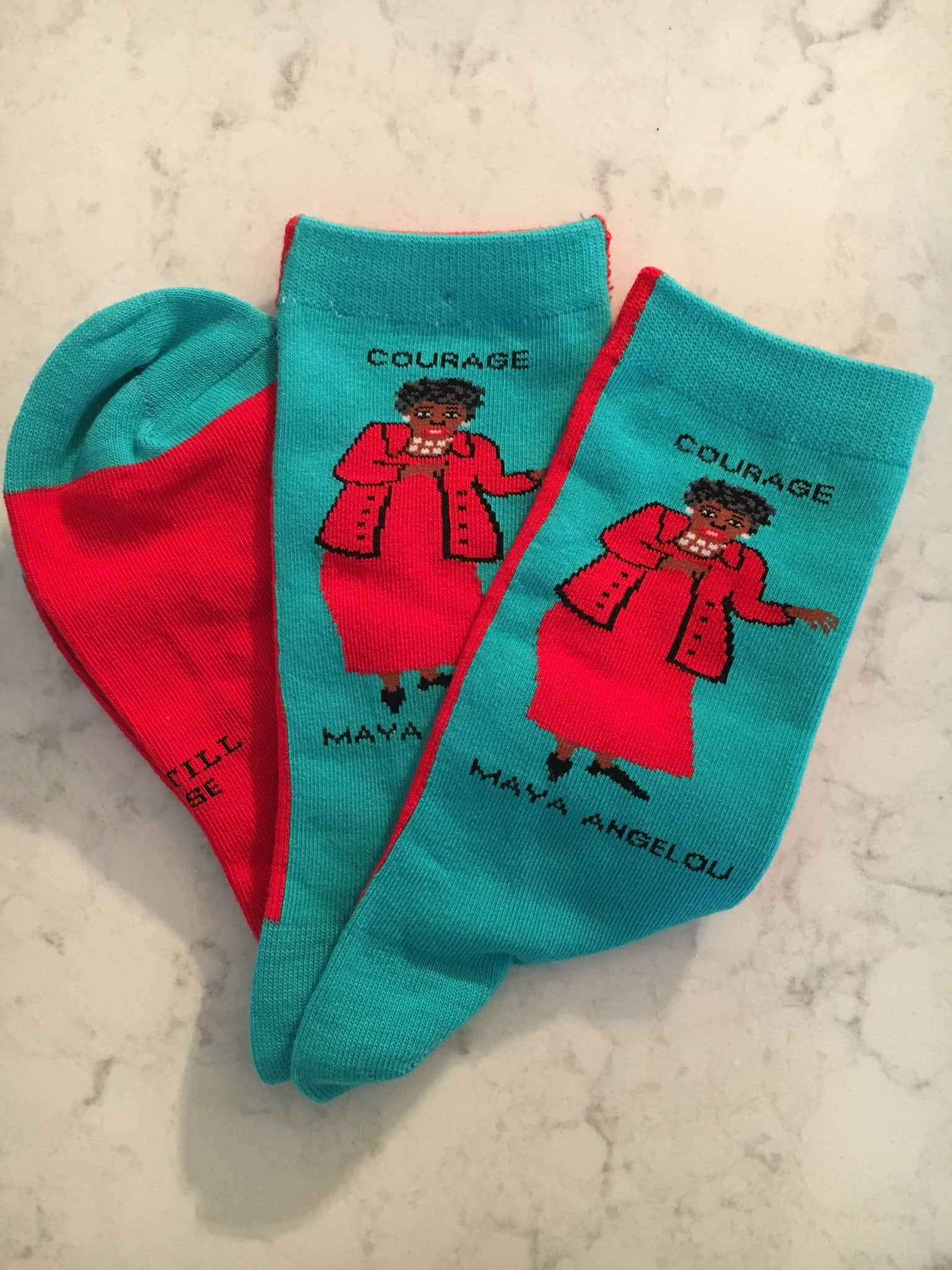 Maya Angelou Crew Socks - Courage