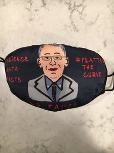 Dr. Fauci Flatten The Curve Face Mask