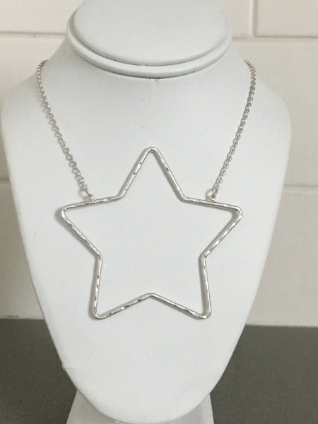 Open Star Necklace 16""