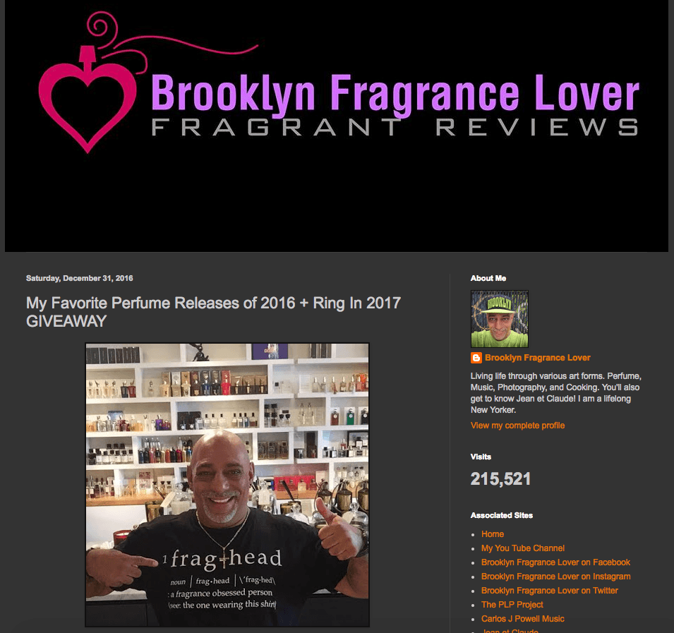 BROOKLYN FRAGRANCE LOVER:  My Favorite Perfume Releases of 2016