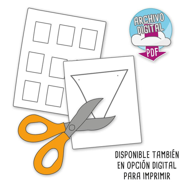 Etiquetas disponibles en opción digital para descargar e imprimir