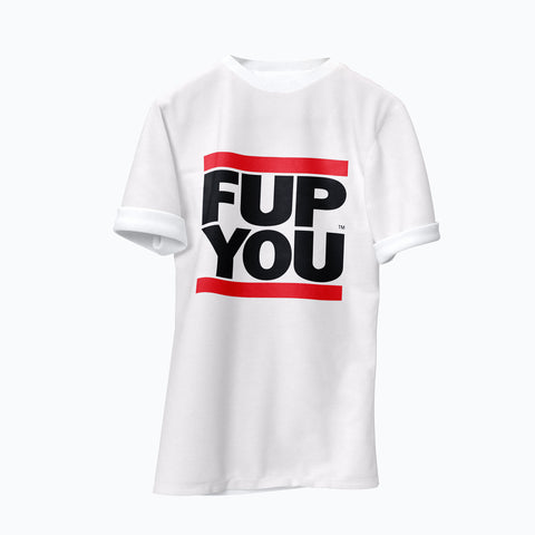 White FUP YOU T-shirt