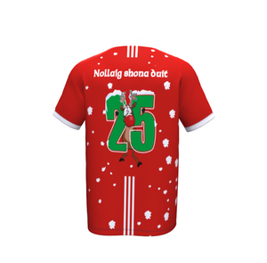 GAA Christmas Jersey- Football & Hurlling -Lapland Gaels- red & white - Red Jersey