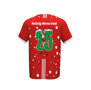 GAA Christmas Jersey- Football & Hurlling -Lapland Gaels- Maroon & white - Red Jersey