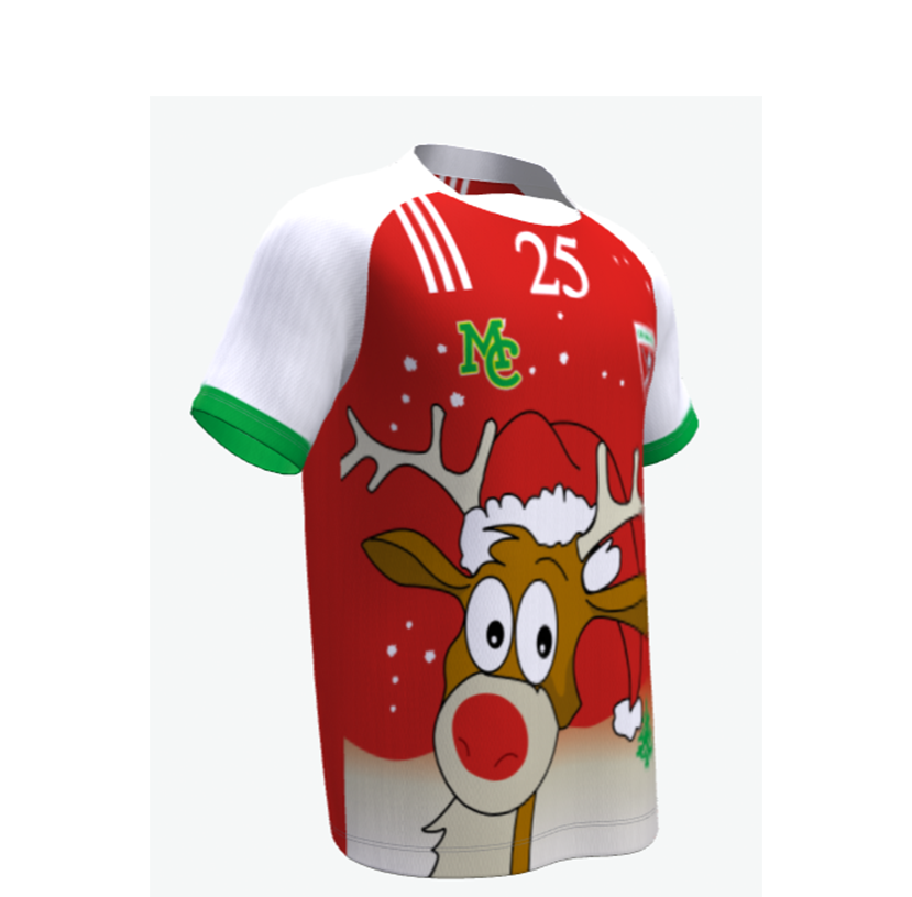 GAA Christmas Jersey-gaelic- Lapland Gaels - Red & White Sleeves