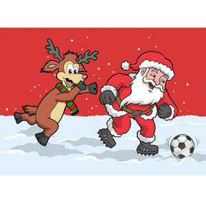 SOCCER Christmas Jersey- Lapland Rovers- Santa Kicking Ball