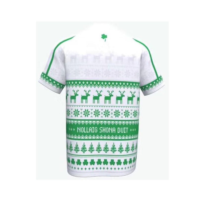 RUGBY Christmas Jersey- Green-white- Irish