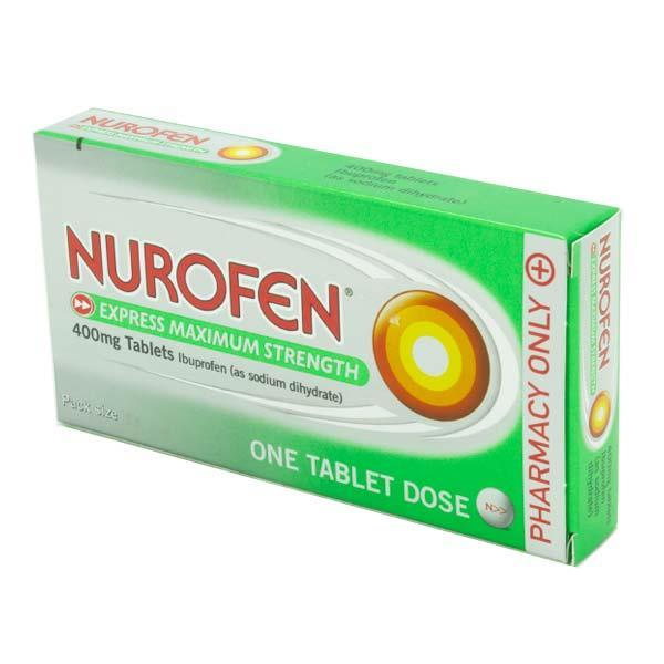 Nurofen Express Max Strength 400mg Tablets  12 Pack