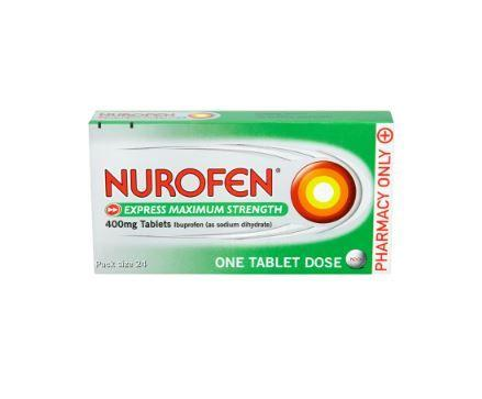 Nurofen Express Max Strength 400mg Tablets  24 Pack