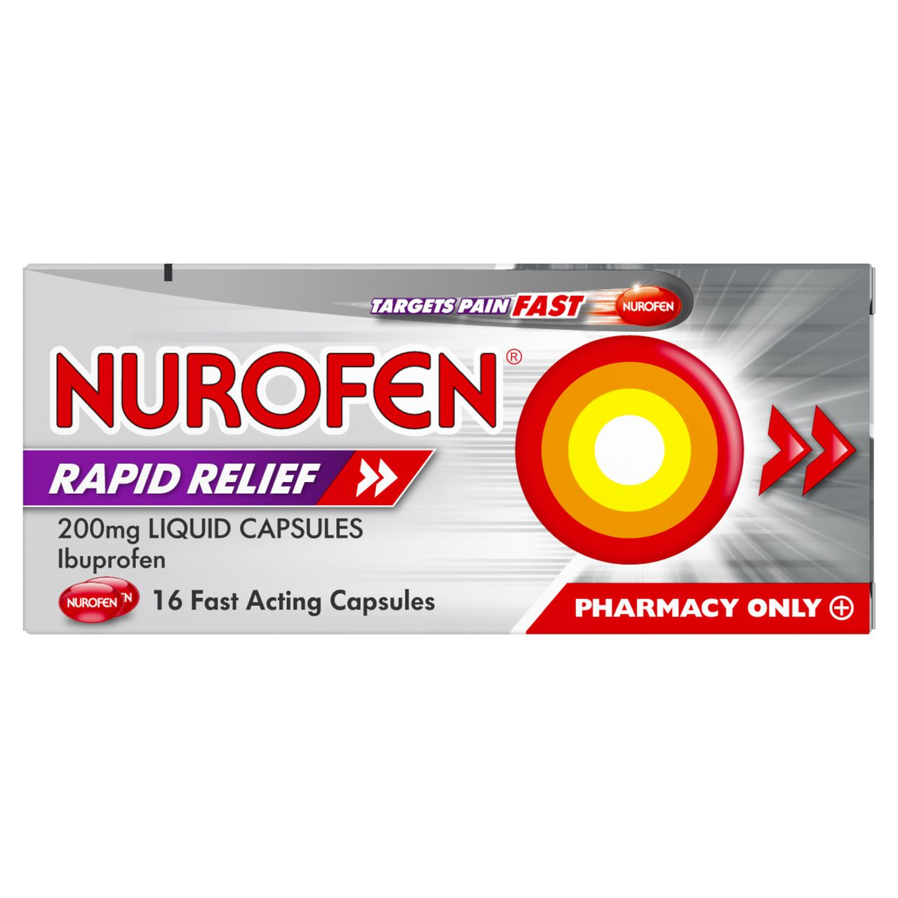 Nurofen Rapid Relief 200mg Liquid Capsules  16 Pack