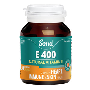 Sona E400 Natural Vitamin E 30 Capsules