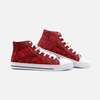 Just Roses High Top Canvas Sneakers