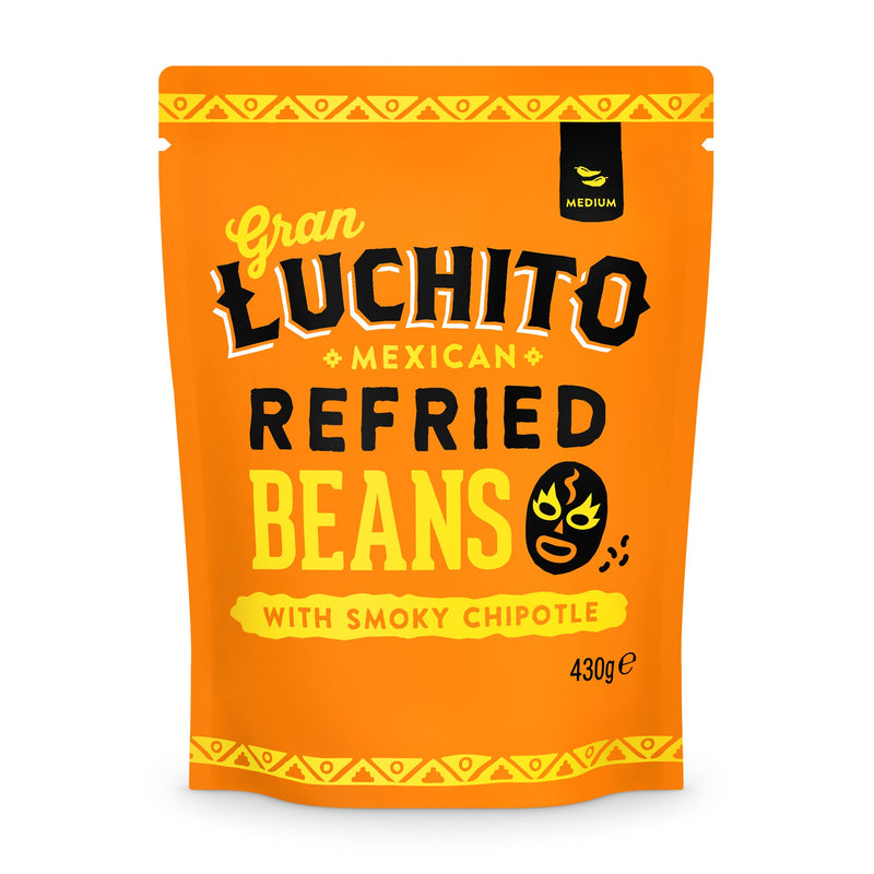 Gran Luchito Chipotle Refried Beans 440g