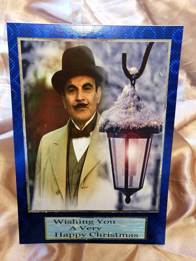Poirot christmas card written and posted