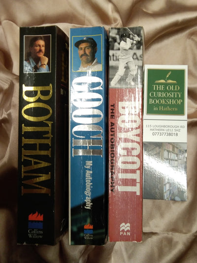 Botham Boycott and Gooch Book Pack - Old Curiosity Bookshop
