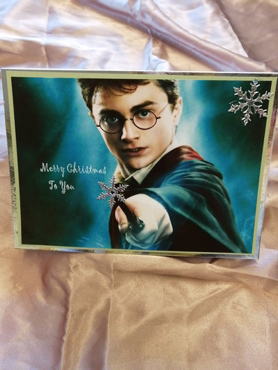 Harry Potter Christmas Card Posted UK