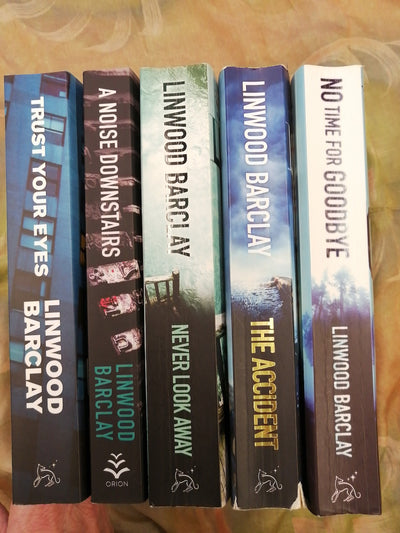 Linwood Barclay Crime Book Pack spines