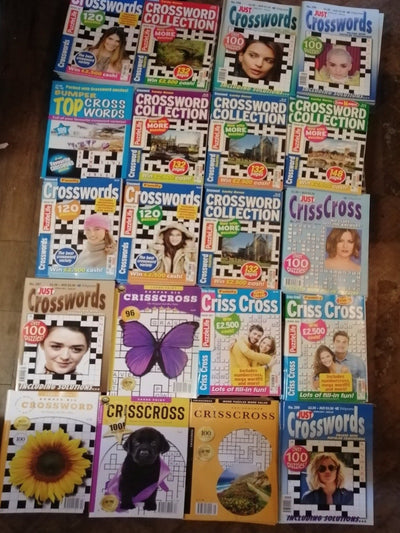 Puzzle Books x 6 Crossword Book Pack - Old Curiosity Bookshop