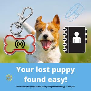 Puppy Smart Tag to find your puppy easier
