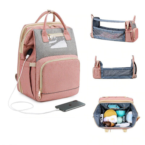 Expanding Diaper Bag Backpack For Baby With Usb Charging Port Changi Hohsupply