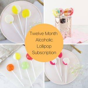 Twelve Month Alcoholic Lollipop Subscription