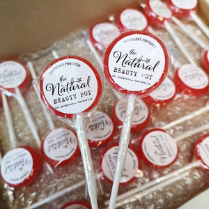 Small Personalised Corporate Lollipops