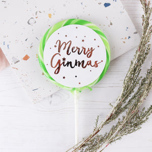 Merry Ginmas Giant Lollipop