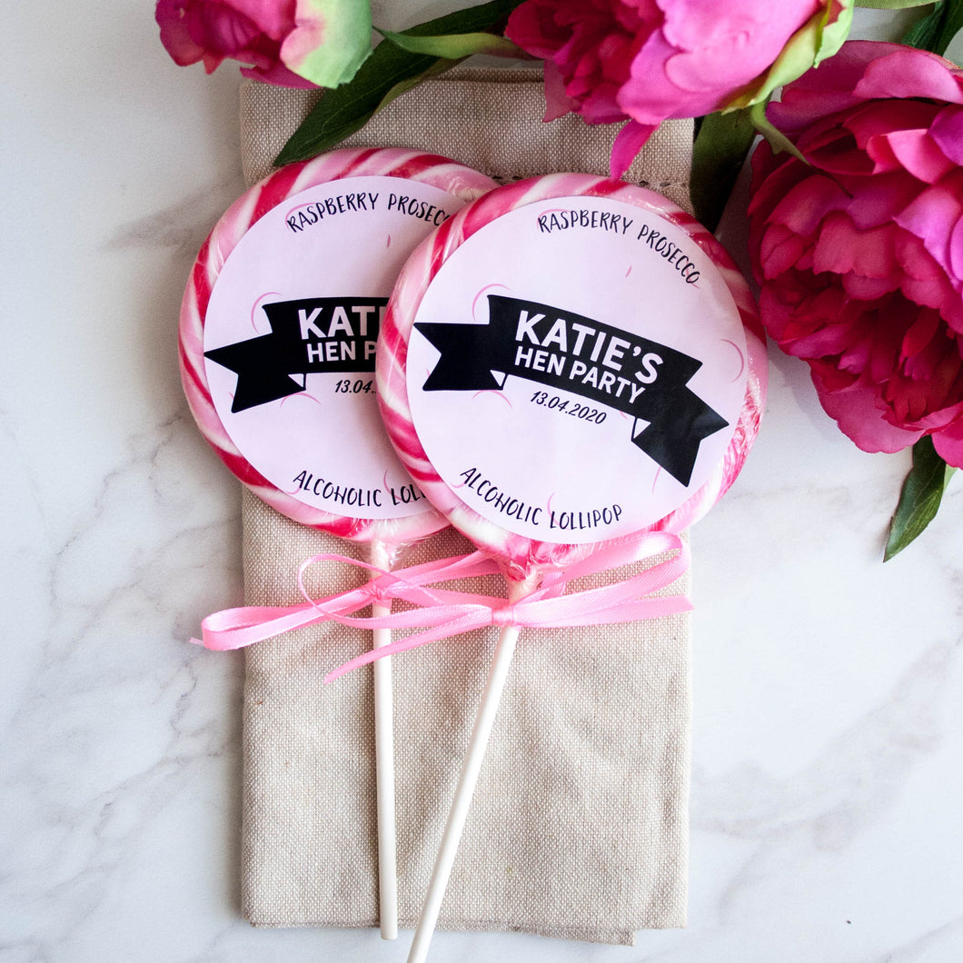 Banner Style Giant Hen Party Lollipops