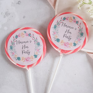 Floral Wreath Hen Party Giant Lollipops
